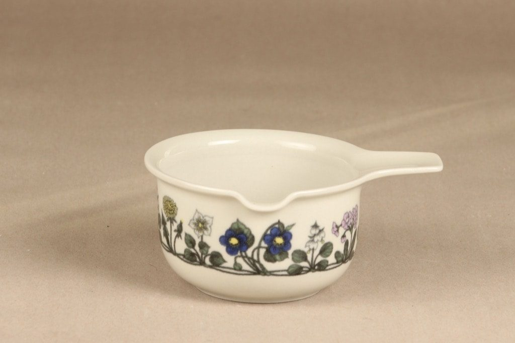 Arabia Flora kastikekaadin, suunnittelija Esteri Tomula, serikuva, kukka-aihe