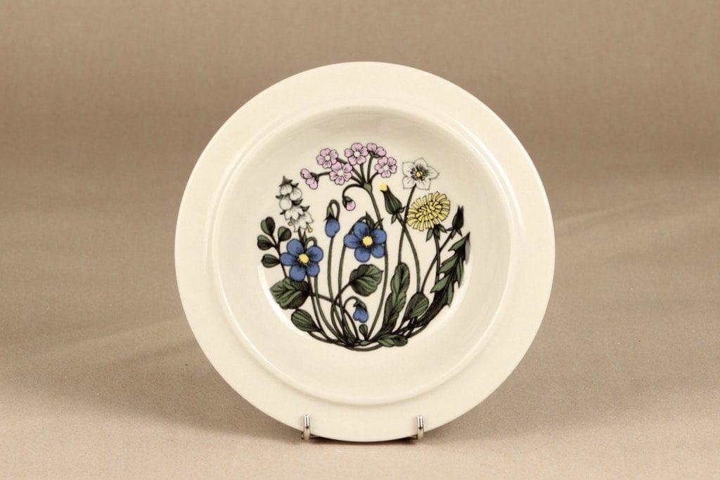 Arabia Flora lautanen, syvä, suunnittelija Esteri Tomula, syvä, serikuva