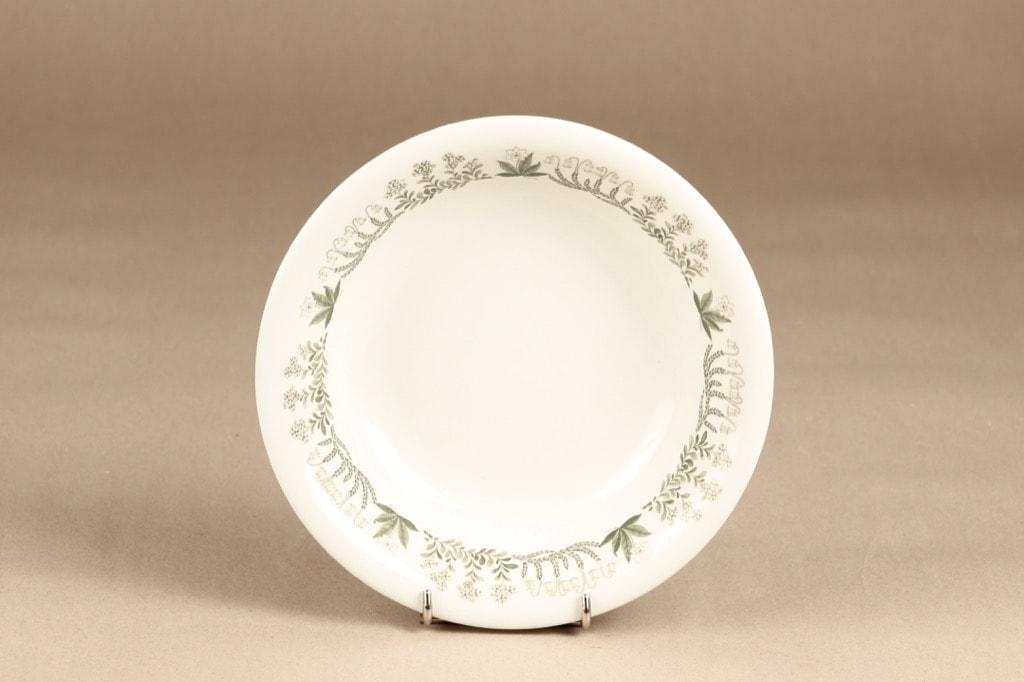 Arabia Polaris soup plate, designer Raija Uosikkinen, silk screening