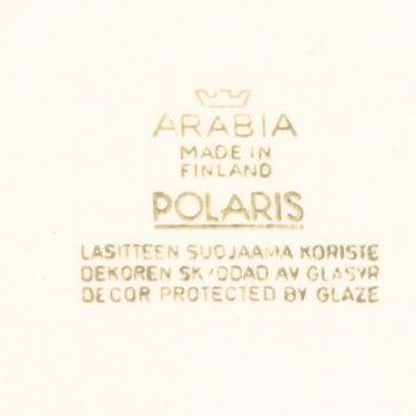 Arabia Polaris lautanen, matala, 6 kpl, suunnittelija Raija Uosikkinen, matala, serikuva kuva 2