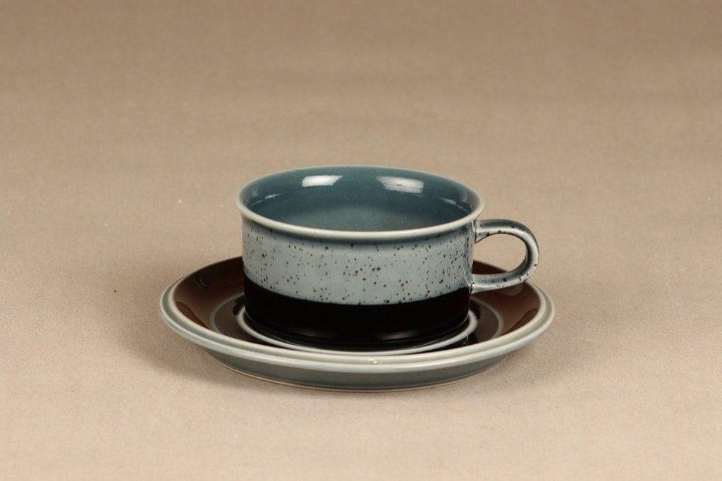 Arabia Meri teekuppi, turkoosi, 2 kpl, suunnittelija Ulla Procope,