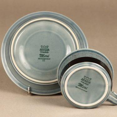 Arabia Meri teekuppi, turkoosi, 2 kpl, suunnittelija Ulla Procope,  kuva 2