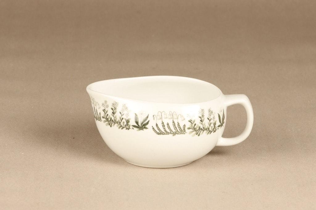 Arabia Polaris sauce pitcher, designer Raija Uosikkinen, silk screening