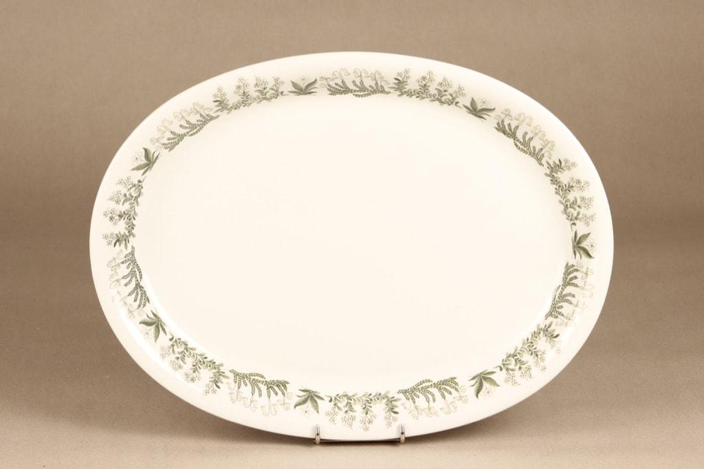 Arabia Polaris platter, oval, designer Raija Uosikkinen, silk screening