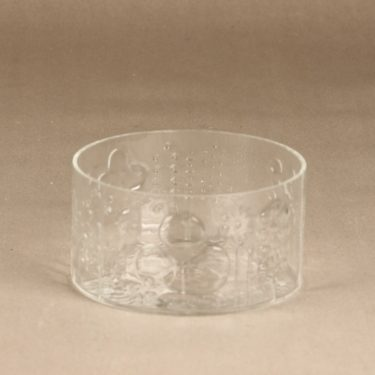Nuutajärvi Flora bowl, clear, small, designer Oiva Toikka,
