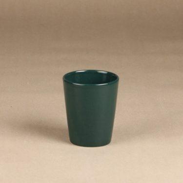 Arabia Kilta mug, green glaze, designer Kaj Franck
