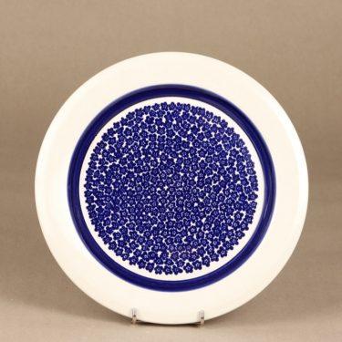 Arabia Faenza lautanen, sininen, suunnittelija Inkeri Seppälä, serikuva