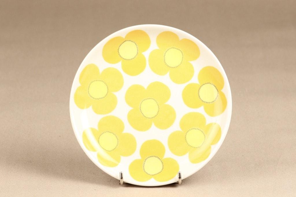 Arabia Aurinko lautanen, keltainen