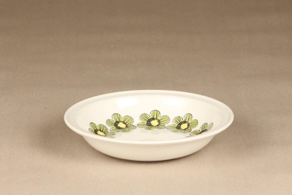 Arabia Primavera lautanen, syvä, suunnittelija Esteri Tomula, syvä, serikuva