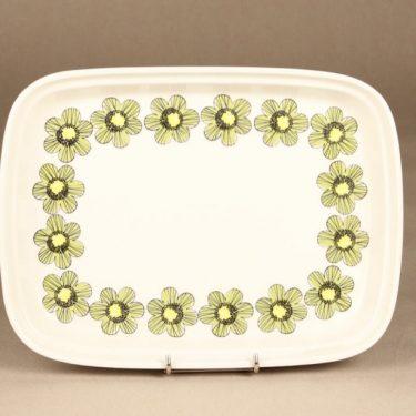 Arabia Primavera vati, vihreä, suunnittelija Esteri Tomula, serikuva, kukka-aihe