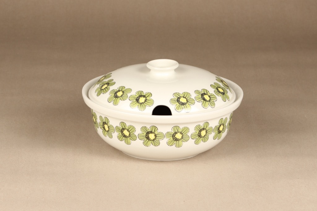 Arabia Primavera terriini, vihreä, suunnittelija Esteri Tomula, serikuva