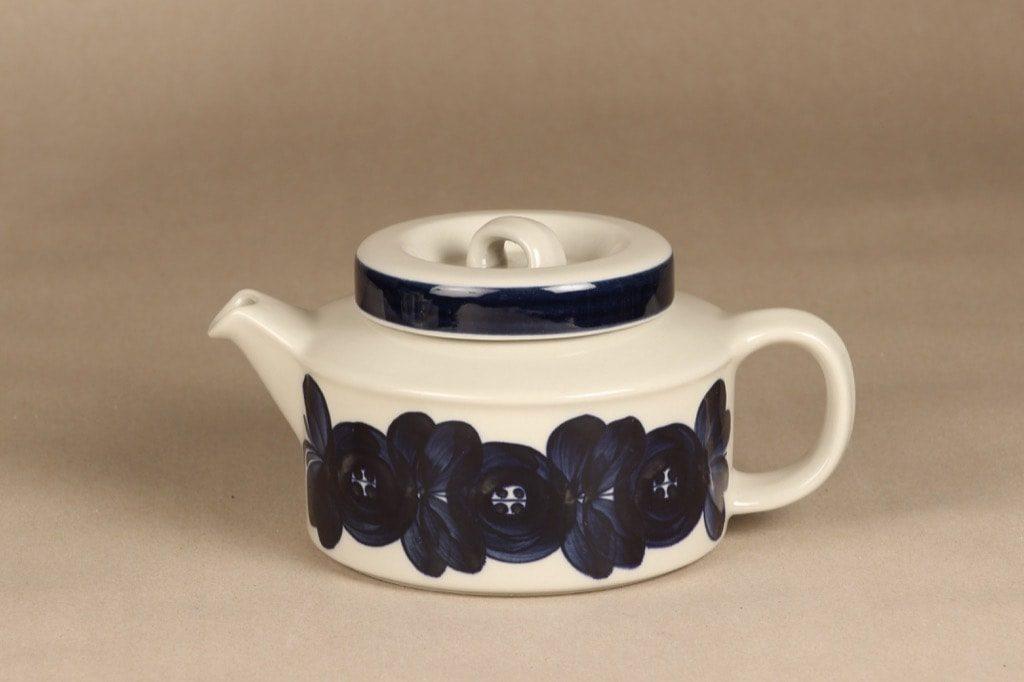 Arabia Anemone teekannu, käsinmaalattu, suunnittelija Ulla Procope, käsinmaalattu