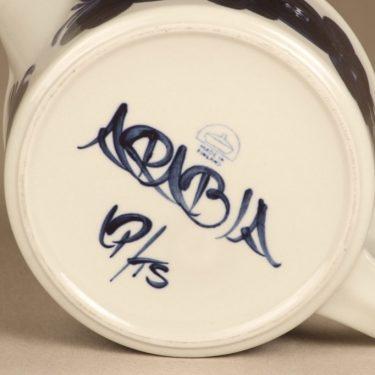 Arabia Anemone teekannu, käsinmaalattu, suunnittelija Ulla Procope, käsinmaalattu kuva 3
