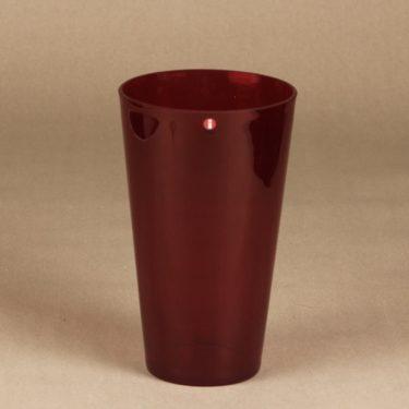 Nuutajärvi Kartio vase, ruby, Kaj Franck