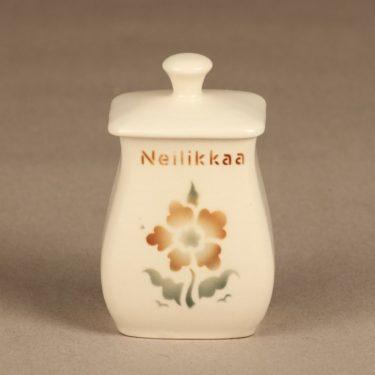 Arabia EB1 maustepurkki, Neilikkaa, suunnittelija , Neilikkaa, pieni, puhalluskoriste