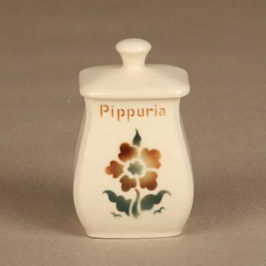 Arabia EB1 maustepurkki, Pippuria, suunnittelija , Pippuria, pieni, puhalluskoriste