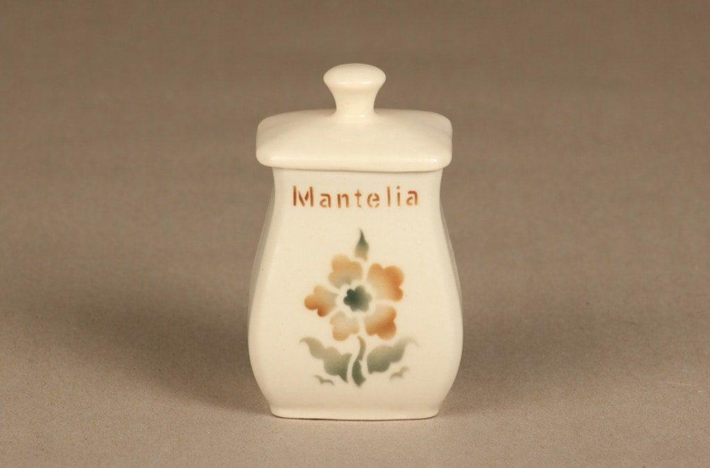 Arabia EB1 maustepurkki, Mantelia, suunnittelija , Mantelia, pieni, puhalluskoriste