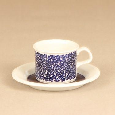 Arabia Faenza kahvikuppi, sininen, suunnittelija Inkeri Seppälä, serikuva