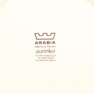 Arabia Aurinko lautanen, keltainen, suunnittelija Esteri Tomula, serikuva kuva 3