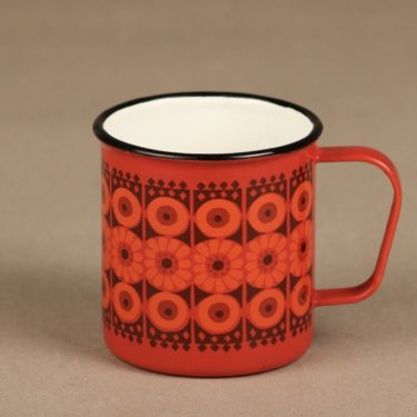 Finel Kehrä mug, red, designer Raija Uosikkinen, silk screening