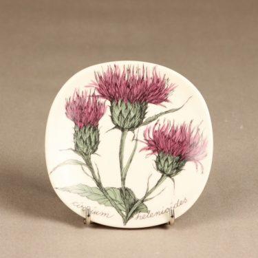 Arabia Botanica koristelautanen, Huopaohdake, suunnittelija Esteri Tomula, Huopaohdake, kukka-aihe