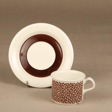 Arabia Faenza kahvikuppi, ruskea, suunnittelija Inkeri Seppälä, serikuva kuva 2