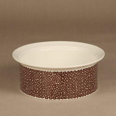 Arabia Faenza bowl, brown, designer Inkeri Seppälä, silk screening