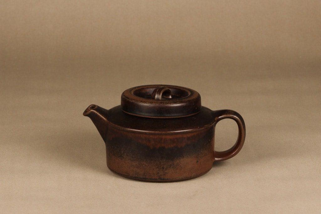 Arabia Ruska teekannu, 1,35 l, suunnittelija Ulla Procope, 1,35 l, ruskea lasite