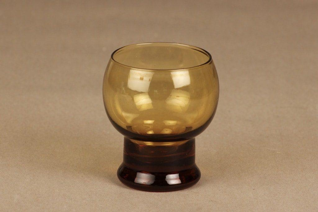Riihimäen lasi Old King Cole juomalasi, ruskea, suunnittelija Erkkitapio Siiroinen,