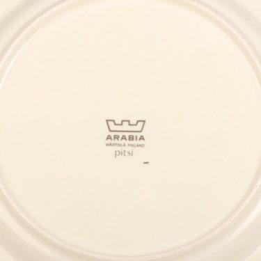 Arabia Pitsi salaattilautanen, matala, suunnittelija Raija Uosikkinen, matala, serikuva kuva 3