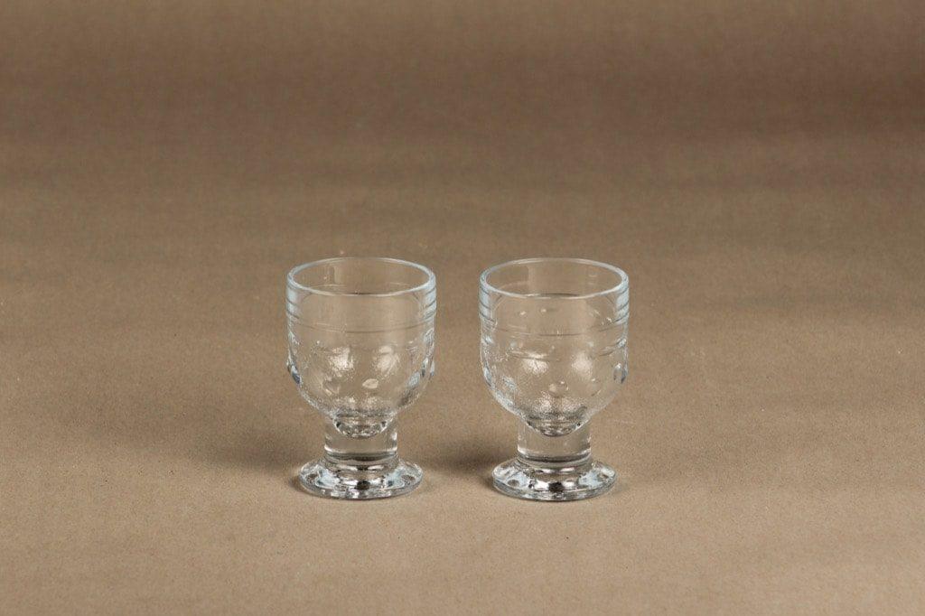 Riihimäen Lasi Kirsi lasi, 10 cl, 2 kpl, suunnittelija Nanny Still, 10 cl