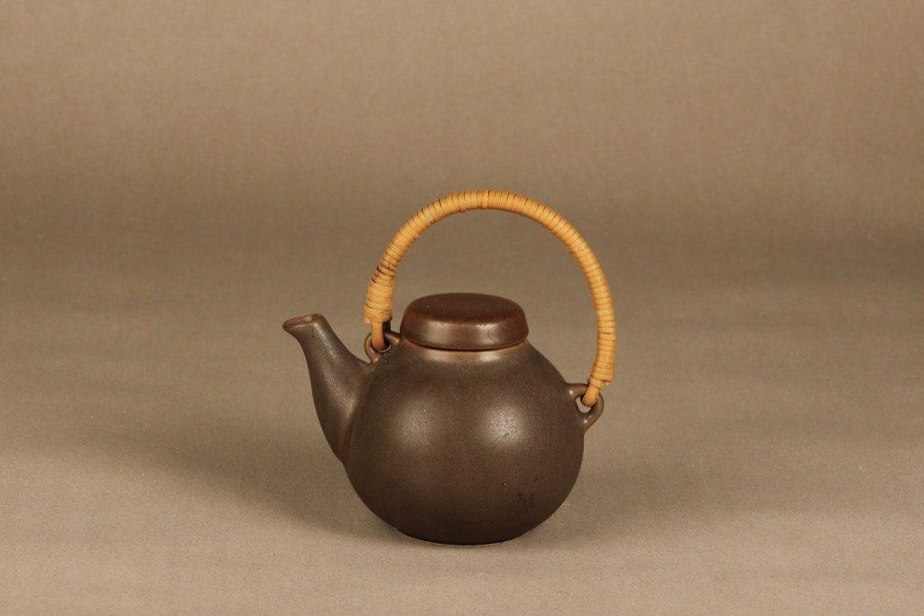 Arabia GA teekannu, ruskea, suunnittelija Ulla Procope,