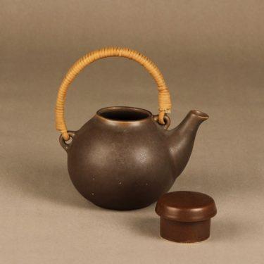 Arabia GA teekannu, ruskea, suunnittelija Ulla Procope,  kuva 2
