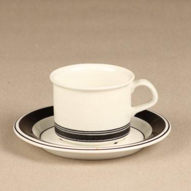 Arabia Faenza kahvikuppi, raitakoriste, suunnittelija Peter Winquist, raitakoriste, serikuva