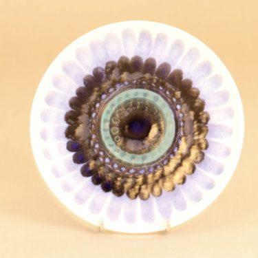 Arabia Hehku lautanen, käsinmaalattu, suunnittelija Hilkka-Liisa Ahola, käsinmaalattu, prototyyppi