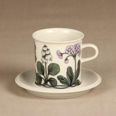 Arabia Flora kaakaokuppi, suunnittelija Esteri Tomula, serikuva, kukkakuvio