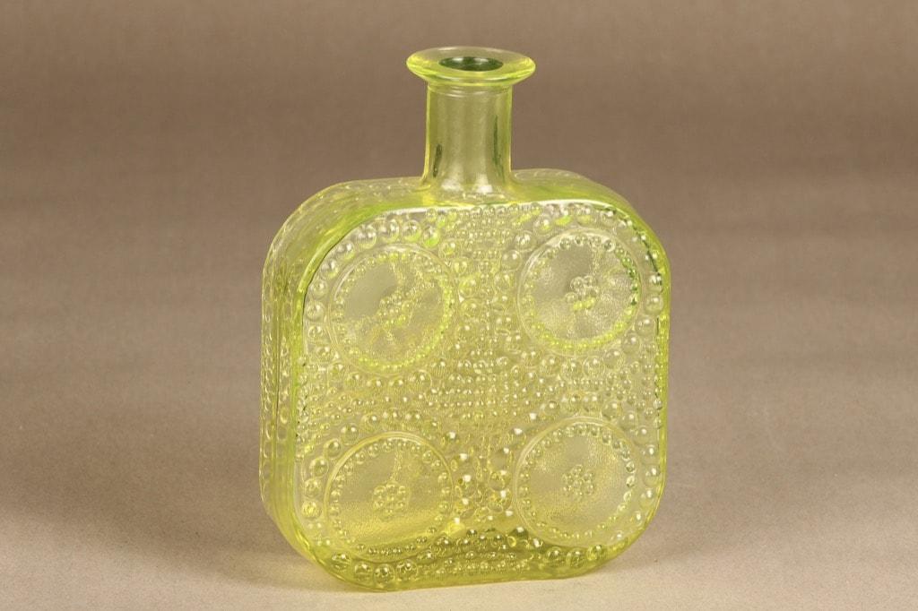 Riihimäen lasi Grapponia koristepullo, keltainen