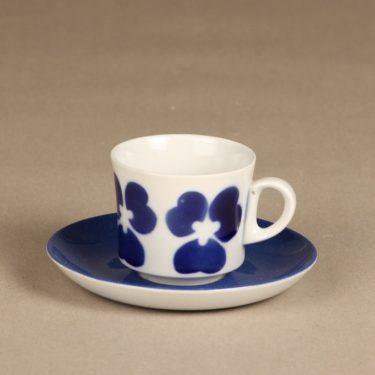 Arabia BR kahvikuppi, sininen, suunnittelija , puhalluskoriste