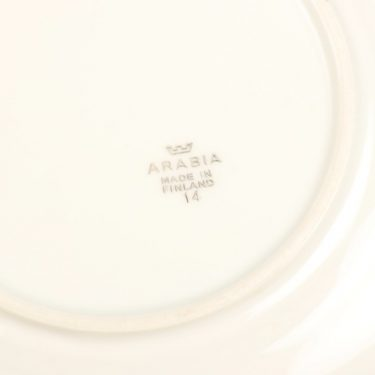 Arabia Apila kahvikuppi ja lautaset, painokoriste, suunnittelija Olga Osol, painokoriste, kullattu kuva 2