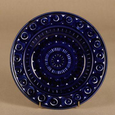 Arabia Valencia lautanen, syvä, suunnittelija Ulla Procope, syvä, käsinmaalattu