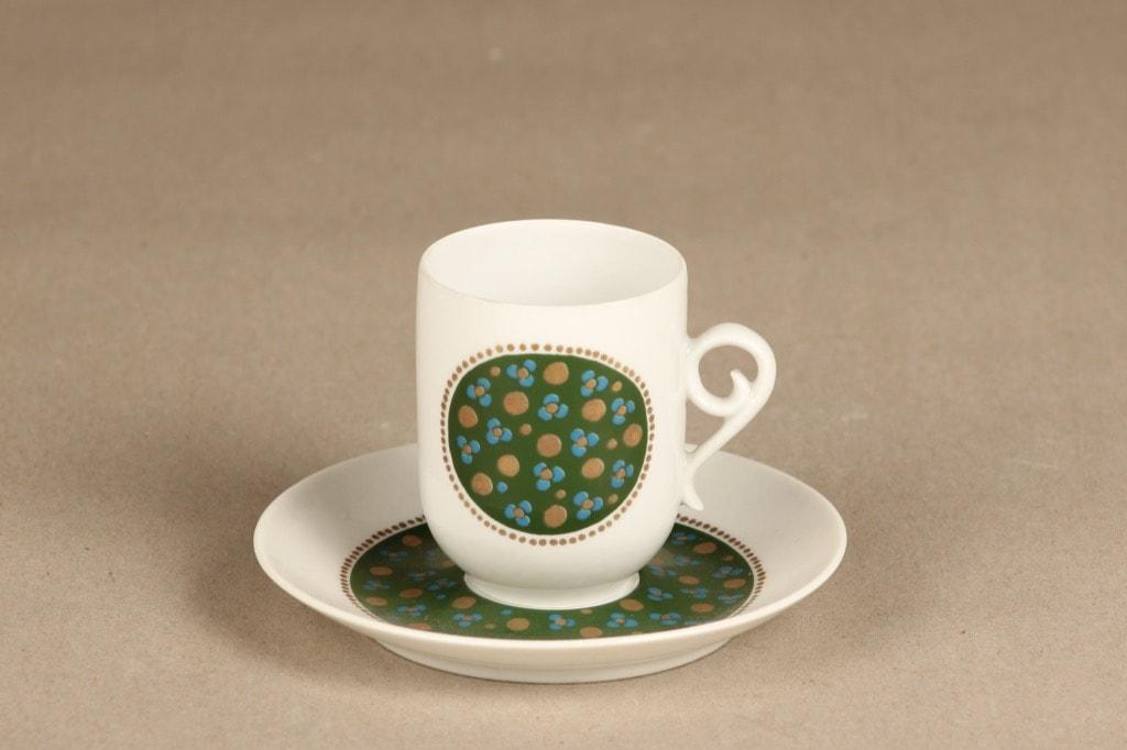 Arabia Pimpinella kahvikuppi, vihreä, suunnittelija Anja Jaatinen-Winquist, serikuva