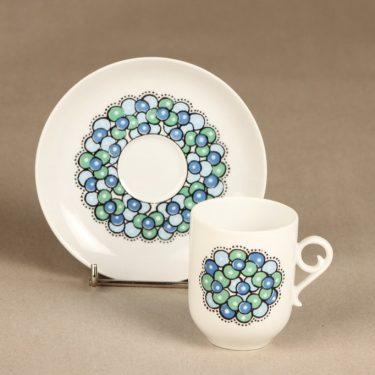 Arabia Marina II kahvikuppi ja lautaset, sinivihreä, suunnittelija Anja Jaatinen-Winquist, serikuva kuva 2
