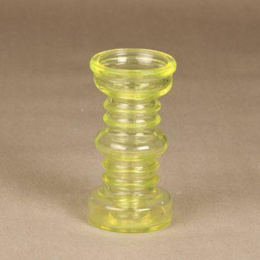 Riihimäen lasi Carmen kääntömaljakko, keltainen, suunnittelija Tamara Aladin,
