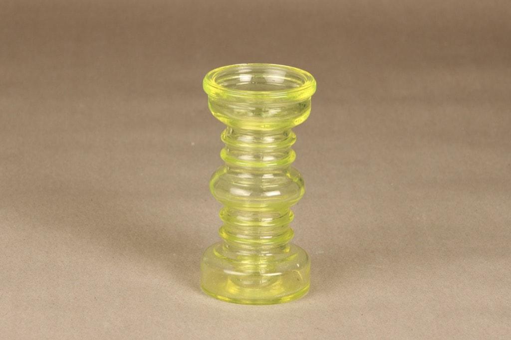 Riihimäen lasi Carmen kääntömaljakko, keltainen