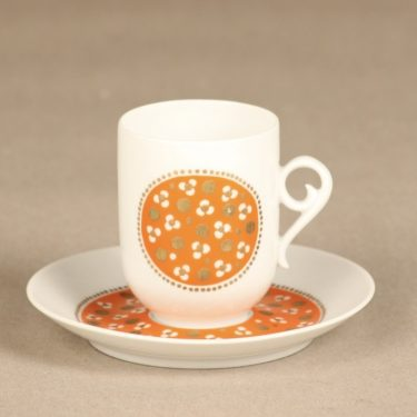 Arabia Pimpinella coffee cup, orange, Anja Jaatinen
