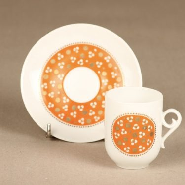 Arabia Pimpinella kahvikuppi, oranssi, suunnittelija Anja Jaatinen, serikuva kuva 2