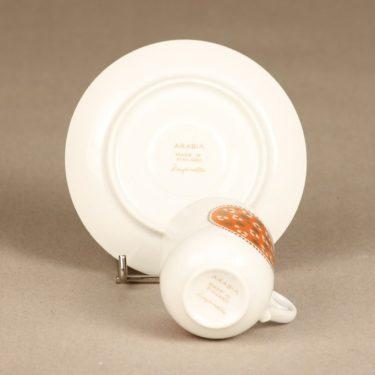 Arabia Pimpinella kahvikuppi, oranssi, suunnittelija Anja Jaatinen, serikuva kuva 3