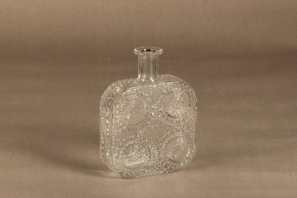Riihimäen Lasi Grapponia koristepullo kirkas, suunnittelija Nanny Still,
