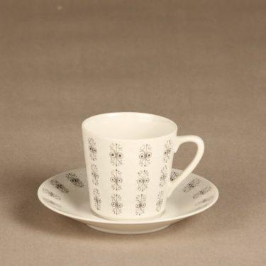 Arabia Sylvia coffee cup, gray, Raija Uosikkinen