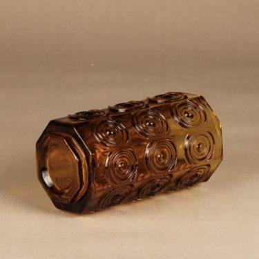 Riihimäen Lasi Rengas maljakko, amber, suunnittelija Tamara Aladin, massiivinen kuva 2